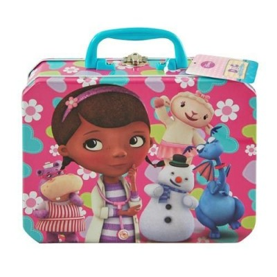 Disney Doc McStuffins Deluxe Metal Tin Carrying Case - Lunch Box, Storage