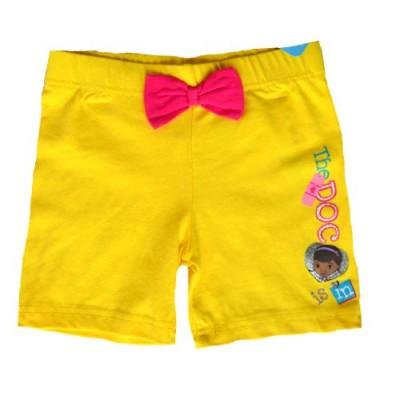 Disney Doc McStuffins Girl's Bike Shorts (6X, Yellow)