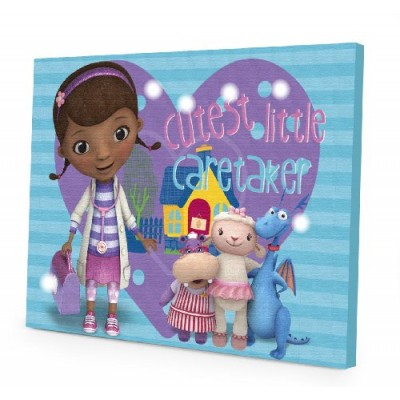 Disney Doc McStuffins LED Canvas Wall Art, 15.75-Inch x 11.5-Inch