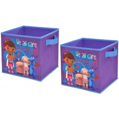 Disney Doc McStuffins Storage Cubes, Set of 2, 10-Inch