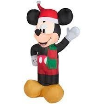 Disney Energy-efficient LED Mickey Mouse Christmas Airblown Inflatable, 3.5 Feet Tall