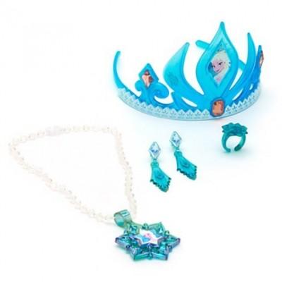 Disney Frozen Elsa Tiara and Jewelry Set