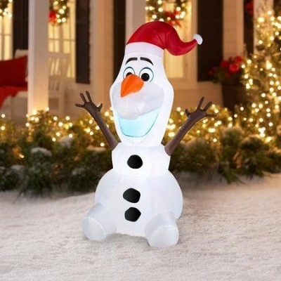 DISNEY FROZEN OLAF 5-FT CHRISTMAS INFLATABLE BLOW-UP (ENERGY EFFICIENT LED)