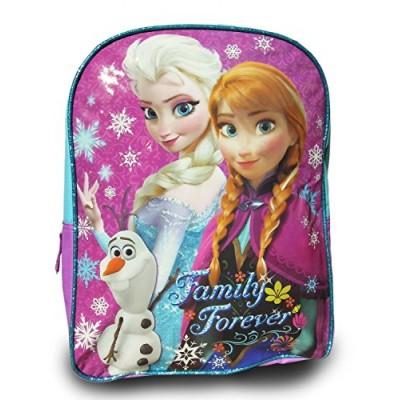 """Disney Frozen Princess Elsa, Anna, Olaf Sparkle Backpack, Large 15"""" School Bag, New Licensed Design"""
