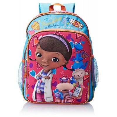 Disney Little Girls' Doc McStuffins 3D Eva Molded Backpack, Blue/Pink, 16x12x5