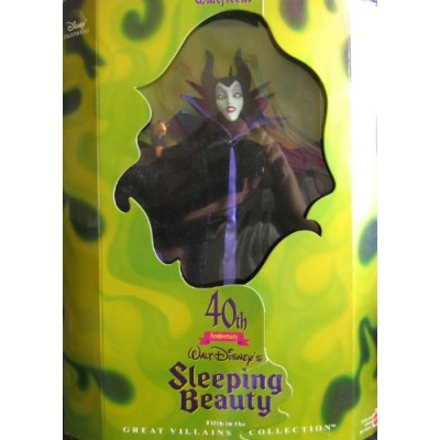 Disney MALEFICENT Barbie DOLL 40th Anniversary SLEEPING BEAUTY - Limited Edition Great Villains 5th in Series (1998)