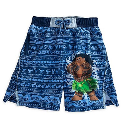 Disney Maui Swim Trunks for Boys - Disney Moana Size 4 Blue 458062342840