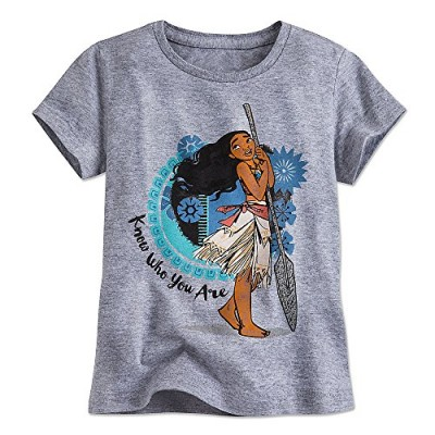 Disney Moana Tee for Girls Size S (5/6) Gray