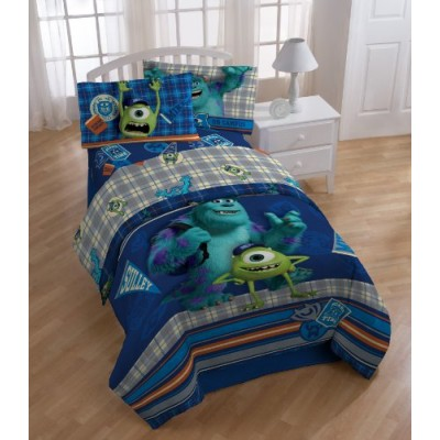 Disney Monster University Scare-Care Sheet Set, Twin