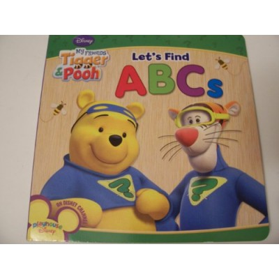 "Disney My Friends Tigger & Pooh Educational Board Books ~ Let's Find ABC's! (7"" x 7"", 2010)"