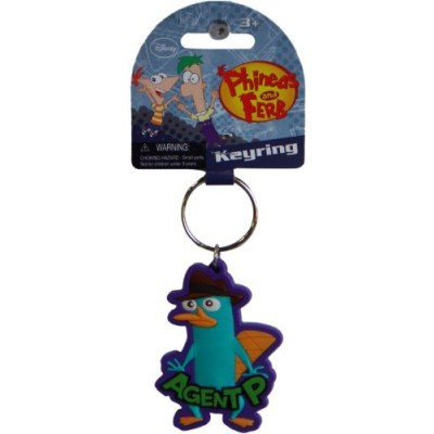 "Disney Phineas & Ferb ""Agent P"" Soft Touch Keyring"
