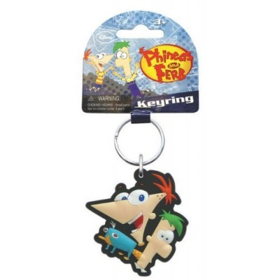 "Disney Phineas and Ferb ""Group"" Laser Cut Keyring"