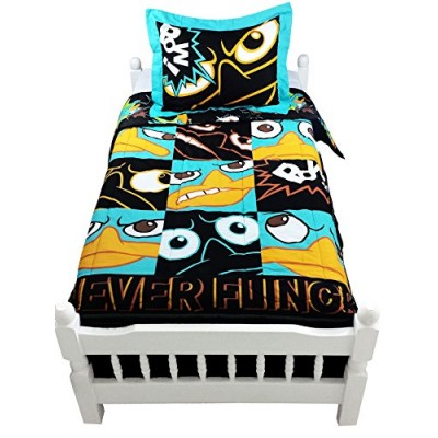 "Disney Phineas and Ferb ""Never Flinch"" Comforter, Twin"