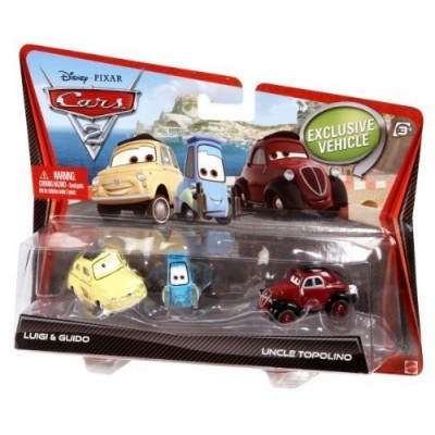 Disney Pixar Cars 2 Movie Die-Cast Luigi, Guido, and Uncle Topolino 3-pack 1:55 Scale