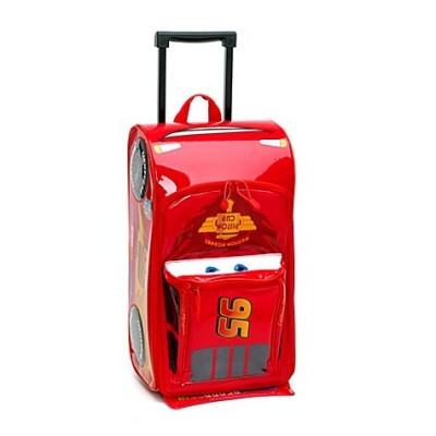 Disney Pixar Cars 2 Rolling Lightning McQueen Luggage Suitcase