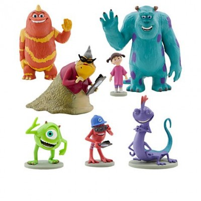 Disney / Pixar MONSTERS INC. Movie Exclusive 7 Piece Deluxe PVC Figurine Set