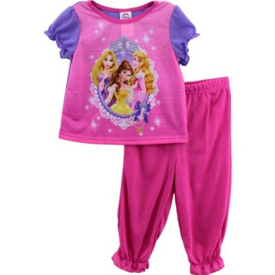 Disney Princess Pink Poly Pajamas (2T)