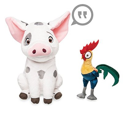 Disney Pua and Heihei Talking Plush Set - Disney Moana - Medium - 12 Inch