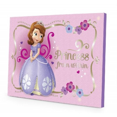 Disney Sofia the First LED Canvas Wall Art, 15.75-Inch x 11.5-Inch