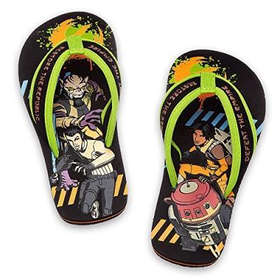 Disney Store - Boys - Star Wars Rebels - Flip Flops (13-1 Little Kid, Black)