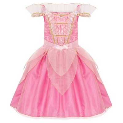 Disney Store Deluxe Aurora Sleeping Beauty Costume Heart Shaped Jewel (M Medium 7-8)