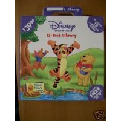 Disney Winnie the Pooh- 12 Book Library Set