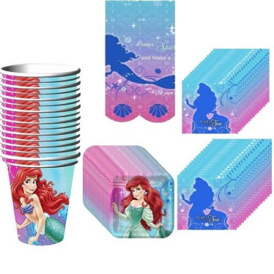 Little Mermaid Party Pack Supplies for 16 Guests