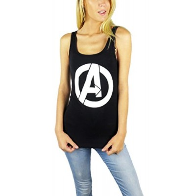 Marvel Womens Avengers Logo Tank Top Small Black