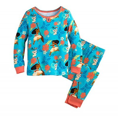 Moana Long Sleeve Long Pants Pajama Set for Girls (5)