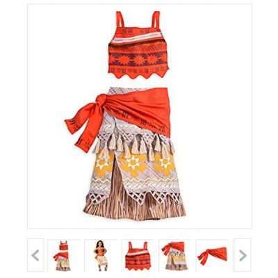 NEW Disney Store Moana Costume for Girls - size 7/8