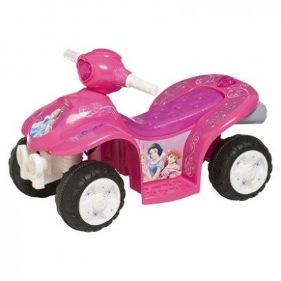 Pacific Cycle Disney Princess 6 Volt Quad Ride-on Car - Pink