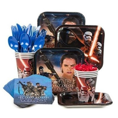 Star Wars Episode VII The Force Awakens Standard Party Supply Kit( Serves 8)