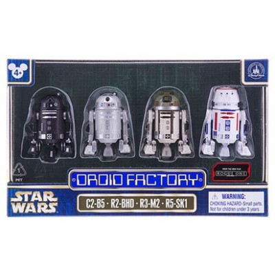 Star Wars The Force Awakens Rogue One Droid Factory Figures 4-Pack (C2-B5, R2-BHD, R3-M2 & R5-SK1) Disney Parks Authentic Original Exclusive