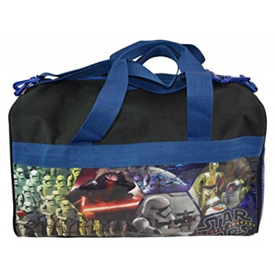 "Stars Wars Duffle Bag for Boys & Girls Storm Trooper Darth Vader R2D2 16"" x 10"""