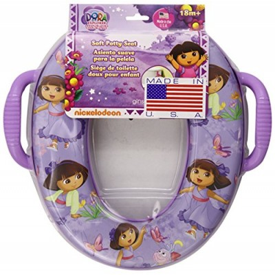Dora the Explorer Butterfly Buddies Seat - Padded, Soft and Durable - For Regular and Elongated Toilets - Removable Cushion for Easy Cleaning - Fir...