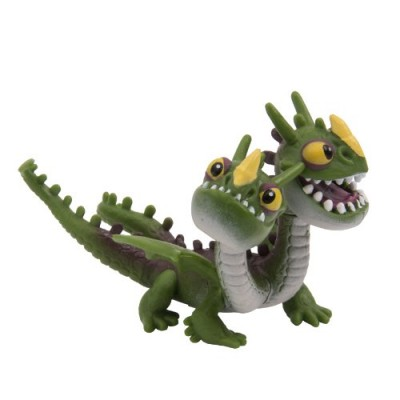 Dreamworks Dragons Defenders of Berk Mini Dragons Zippleback Belch & Barf Green