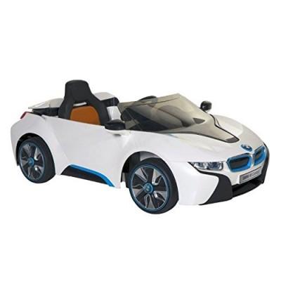 BMW i8 Concept 6-volt Electric Ride-On Car, White/Black/Blue