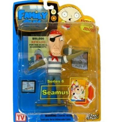 Family Guy Mezco Series 6 Action Figure Peg Leg Sailor Seamus [Open Mouth]