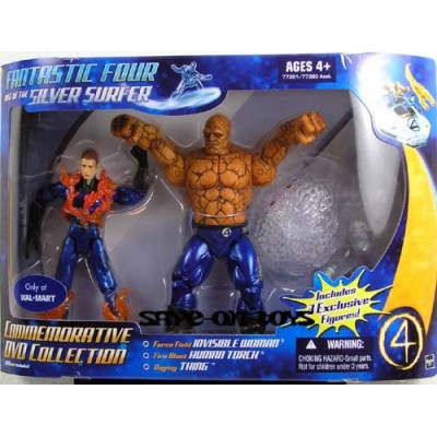 Fantastic Four: Rise Of The Silver Surfer Commemorative Collection > Human Torch Thing And Invisible Woman Action Figure 3-Pack
