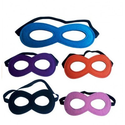 Fashionclubs Christmas Party Kids' Superhero Costume Mask Pack of 11 Random Color