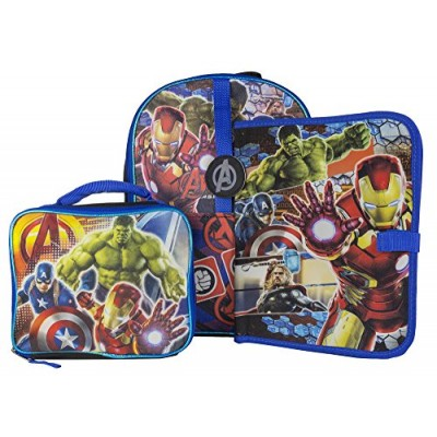 Fast Forward Large Backpack with Lunch Kit and Binder Marvel Avengers
