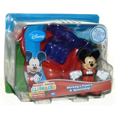 Disney Clubhouse Mickey Mouse Figure and Spaceship Play Set