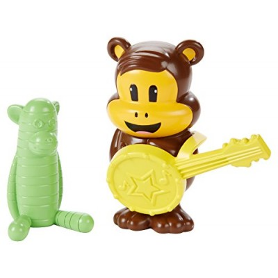Fisher-Price Julius Jr. Figure Pack - Worry Bear and Sock Monkey