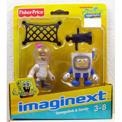 Imaginext, SpongeBob Squarepants Exclusive Figures, SpongeBob & Sandy, 2-Pack