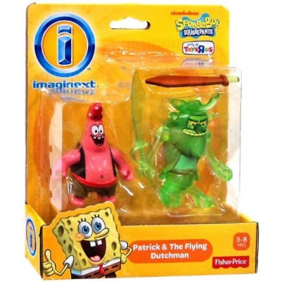 Imaginext, SpongeBob Squarepants, Patrick and the Flying Dutchman Exclusive Action Figures