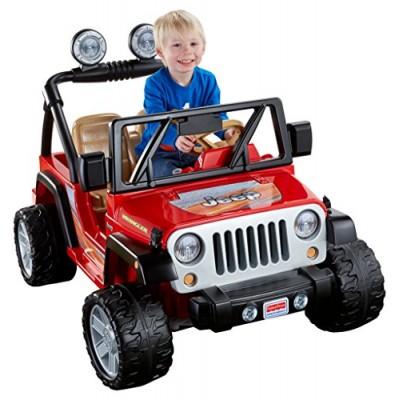 Power Wheels Jeep Wrangler - Lava Red & Black
