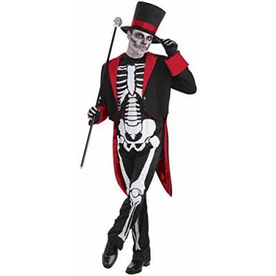 Men's Mr. Bone Jangles Costume, Black/White, One Size