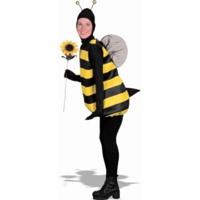 Women's Bumble Bee Costume, Black/Yellow, Standard