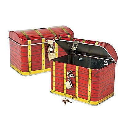 Fun Express Metal Pirate Treasure Chest with Lock