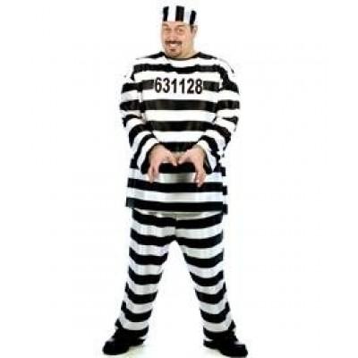 Convict Costume Xlarge
